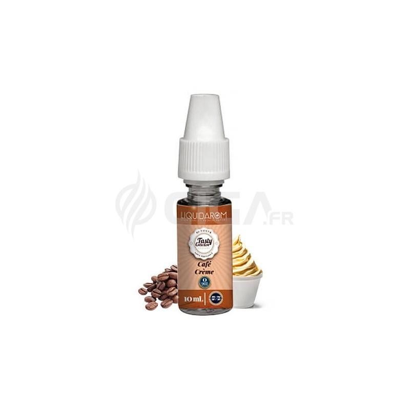 Flacon de 10ml de e-liquide Café Crème de Tasty Collection de Liquidarom.